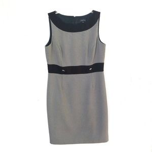 Tahari | Black White Career Work Dress
